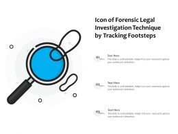 Icon Of Forensic Legal Investigation Technique By Tracking Footsteps