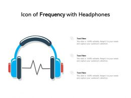 Icon Of Frequency With Headphones