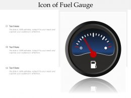 Icon Of Fuel Gauge
