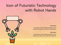 Icon Of Futuristic Technology With Robot Hands
