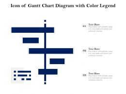 Icon Of Gantt Chart Diagram With Color Legend
