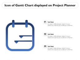 Icon Of Gantt Chart Displayed On Project Planner