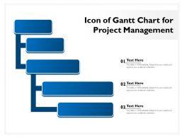 Icon Of Gantt Chart For Project Management
