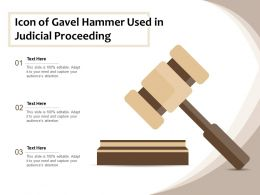 Icon Of Gavel Hammer Used In Judicial Proceeding
