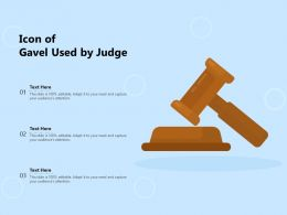 Icon Of Gavel Used By Judge