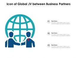 Icon Of Global JV Between Business Partners