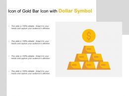 Icon Of Gold Bar Icon With Dollar Symbol
