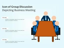 Icon Of Group Discussion Depicting Business Meeting