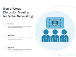 Icon Of Group Discussion Meeting For Global Networking