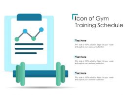 Icon Of Gym Training Schedule