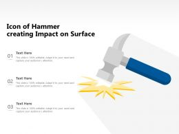 Icon Of Hammer Creating Impact On Surface