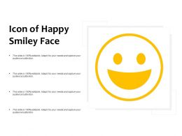 Icon Of Happy Smiley Face