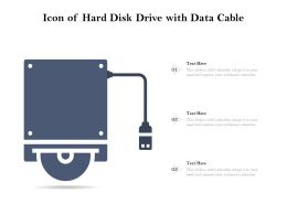 Icon Of Hard Disk Drive With Data Cable