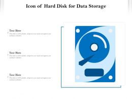 Icon Of Hard Disk For Data Storage