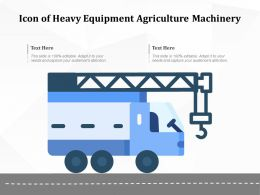 Icon Of Heavy Equipment Agriculture Machinery