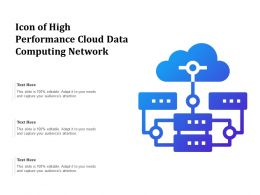 Icon Of High Performance Cloud Data Computing Network