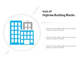Icon Of Highrise Building Blocks