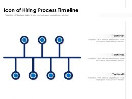 Icon Of Hiring Process Timeline