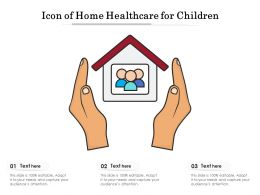 Icon Of Home Healthcare For Children