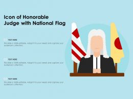 Icon Of Honorable Judge With National Flag