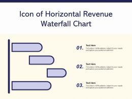Icon Of Horizontal Revenue Waterfall Chart