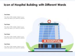 Icon Of Hospital Building With Different Wards