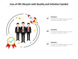 Icon Of HR Lifecycle With Quality And Initiation Symbol