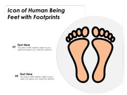 Icon Of Human Being Feet With Footprints