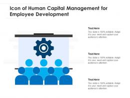Icon Of Human Capital Management For Employee Development