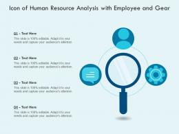 Icon Of Human Resource Analysis With Employee And Gear