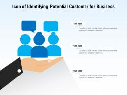 Icon Of Identifying Potential Customer For Business