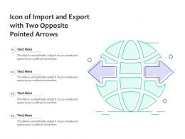 Icon Of Import And Export With Two Opposite Pointed Arrows