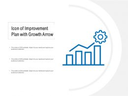 Icon Of Improvement Plan With Growth Arrow
