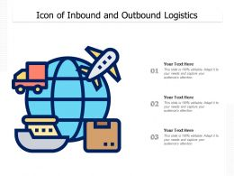Icon Of Inbound And Outbound Logistics