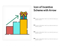 Icon Of Incentive Scheme With Arrow