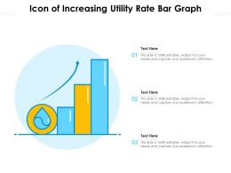 Icon Of Increasing Utility Rate Bar Graph