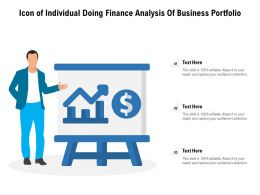 Icon Of Individual Doing Finance Analysis Of Business Portfolio