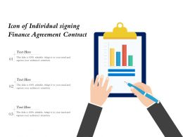 Icon Of Individual Signing Finance Agreement Contract