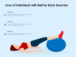 Icon Of Individual With Ball For Back Exercise