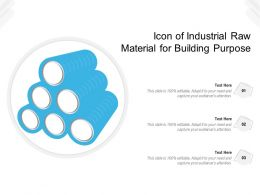 Icon Of Industrial Raw Material For Building Purpose
