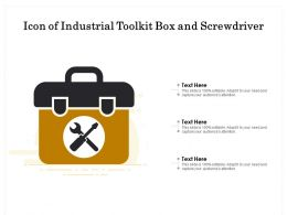 Icon Of Industrial Toolkit Box And Screwdriver