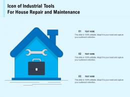 Icon Of Industrial Tools For House Repair And Maintenance