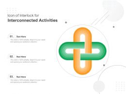Icon Of Interlock For Interconnected Activities