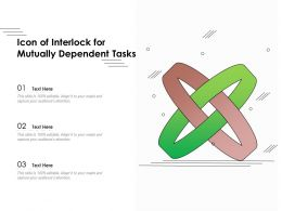 Icon Of Interlock For Mutually Dependent Tasks