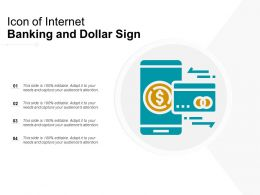 Icon Of Internet Banking And Dollar Sign