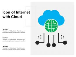 Icon Of Internet With Cloud