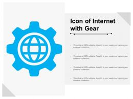 Icon Of Internet With Gear