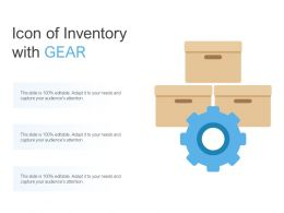 Icon Of Inventory With Gear