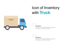 Icon Of Inventory With Truck