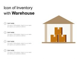 Icon Of Inventory With Warehouse